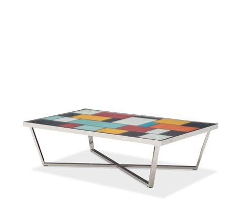 Michael Amini - Kube Rectangular Cocktail Table - FS-KUBE201
