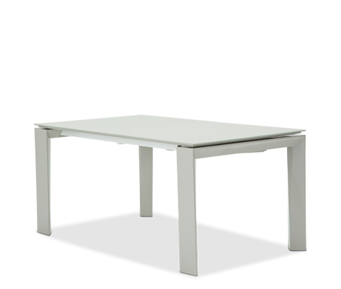Image of Milan Rectangular Dining Table with Glass Top