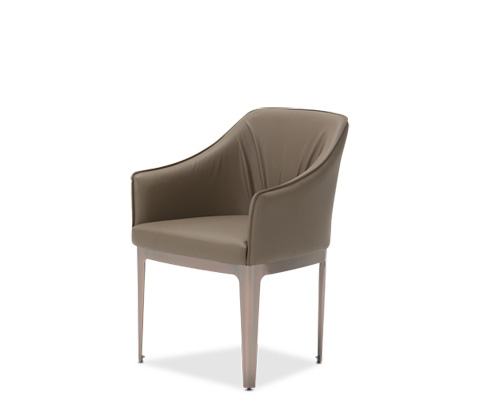 Image of Parallel Upholstered Dining Chair