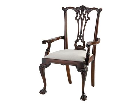 Alden Parkes - Chippendale Arm Chair - ACCH-CHP/A