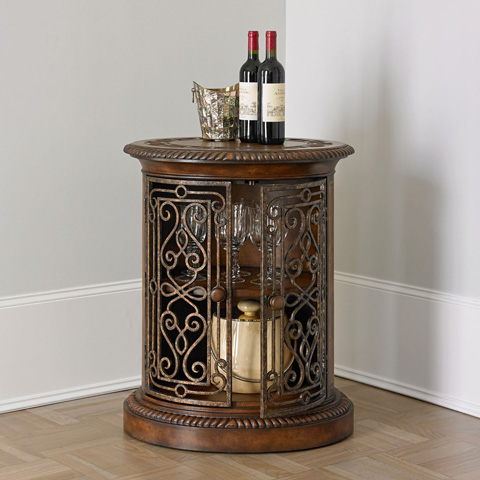 Ambella Home Collection - Villa de Medici Oval Door Cabinet Drum Table - 05077-820-001