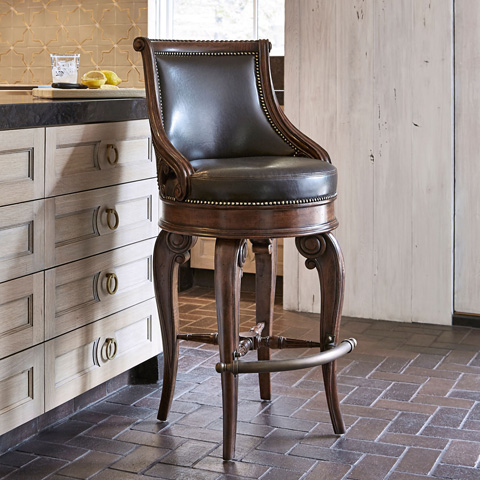 Ambella Home Collection - Tatum Swivel Barstool - 03500-510-002