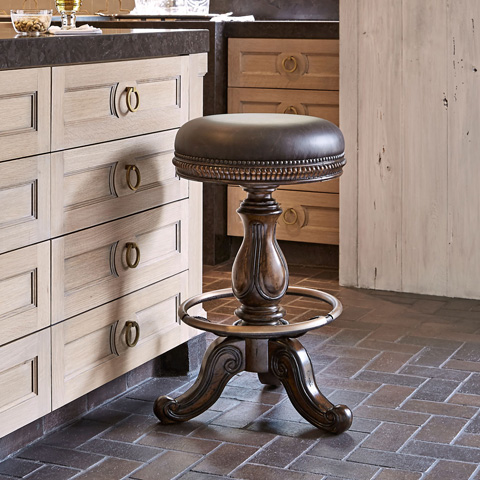 Ambella Home Collection - Davis Swivel Barstool - 02003-510-011