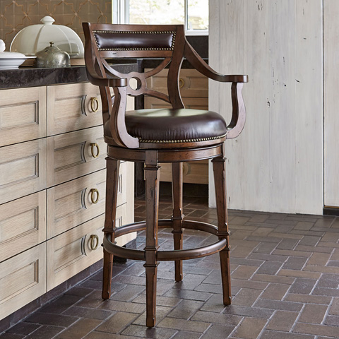 Ambella Home Collection - Delaware Swivel Barstool - 16000-510-001