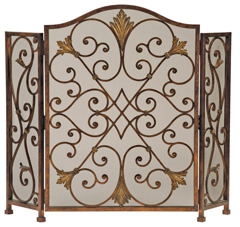 Ambella Home Collection - Rockefeller 3-Panel Fireplace Screen - 02133-460-001