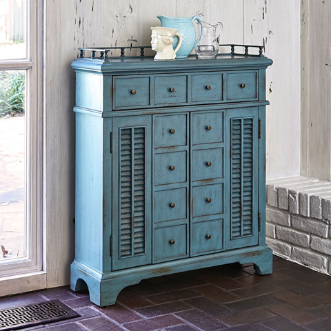 Ambella Home Collection - Montauk Hall Console - Blue - 20077-830-001