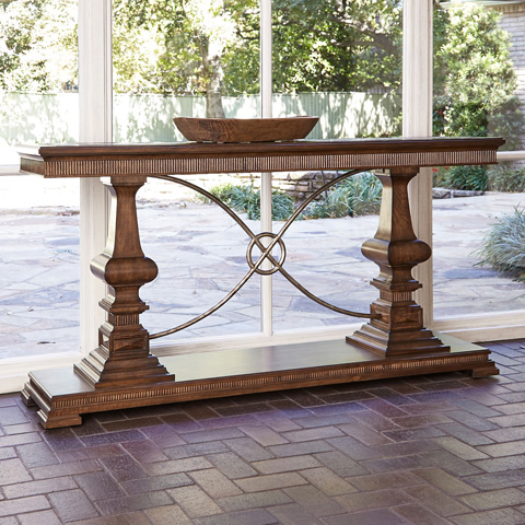 Ambella Home Collection - Woodford Console Sofa Table in Nutmeg - 24030-850-001