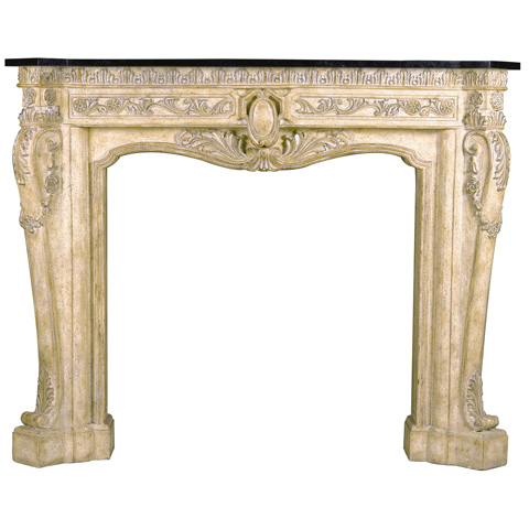 Ambella Home Collection - Floral Fireplace Surround Décor - 01129-420-070