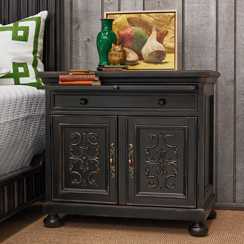 Ambella Home Collection - Scrolling Gate Nightstand - 02197-230-001