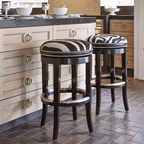 Ambella Home Collection - Zebrano Swivel Barstool - 03534-510-011