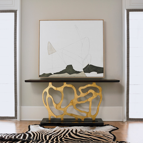 Ambella Home Collection - Sculpted Console in Gold - 07200-850-003
