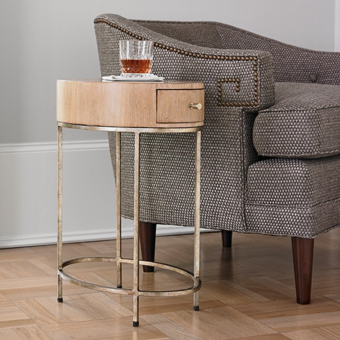 Ambella Home Collection - French Key Accent Table in Oak - 09126-900-012