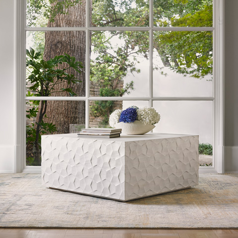Ambella Home Collection - Limestone Bow Tie Cocktail Table - 09404-920-001
