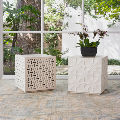 Ambella Home Collection - Limestone Daisy Mini Table - 09407-900-001