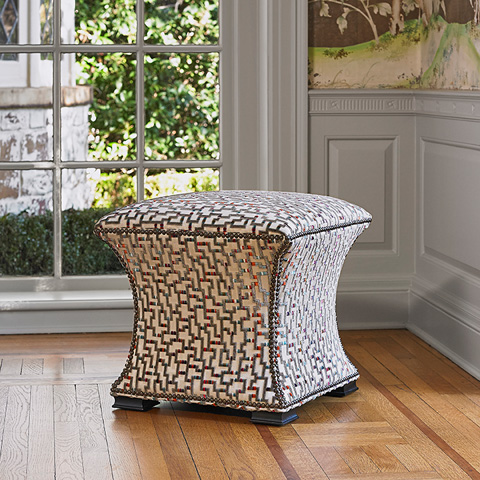 Ambella Home Collection - Cinched Hassock - 105-00