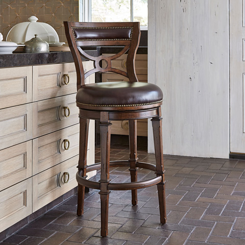 Ambella Home Collection - Delaware Swivel Barstool - 16000-515-001