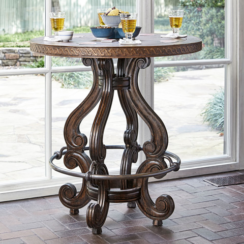 Ambella Home Collection - Marseilles Bar Table with Copper Top - 17522-500-001