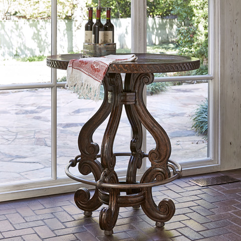 Ambella Home Collection - Marseilles Bar Table with Wood Top - 17522-500-002