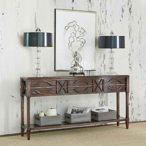 Ambella Home Collection - Spindle Console in Walnut - 17554-850-001