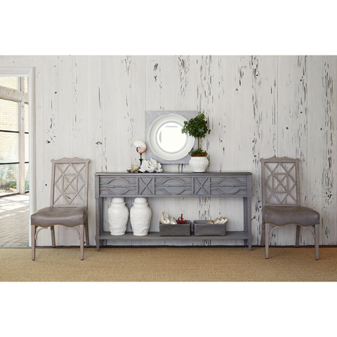 Ambella Home Collection - Spindle Console in Weathered Grey - 17554-850-002