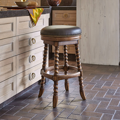 Ambella Home Collection - Dawson Swivel Barstool - 20017-518-001