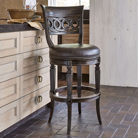 Ambella Home Collection - Rochelle Swivel Barstool - 20104-515-001