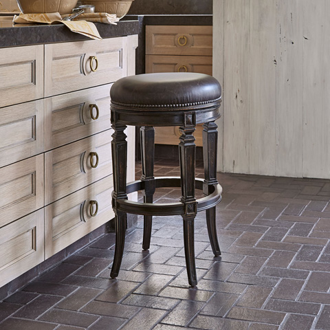 Ambella Home Collection - Rochelle Swivel Counter Stool - 20104-528-001