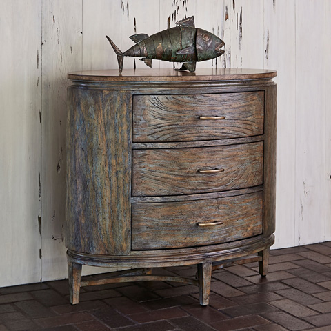 Ambella Home Collection - Azalea Chest in Antique Blue - 24048-830-001