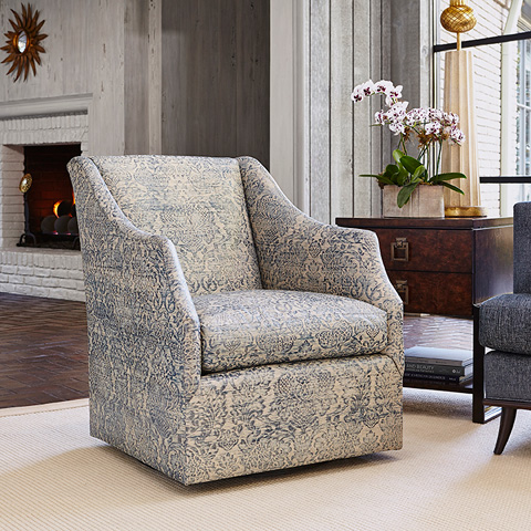 Ambella Home Collection - Claudette Swivel Chair - 241-00