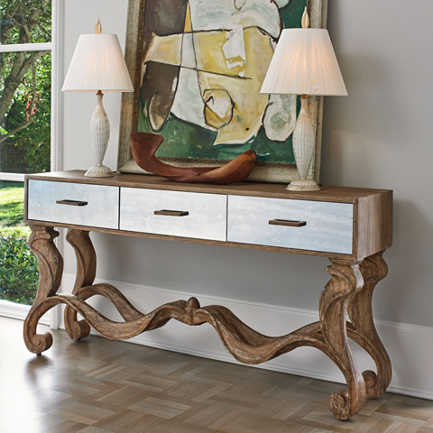 Ambella Home Collection - Voranado Scrolling Console Table - 27003-850-001