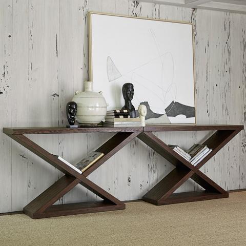 Ambella Home Collection - Salone Scuro Double-V Console Table - 27037-850-001