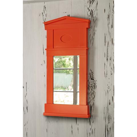 Ambella Home Collection - Pediment Mirror in Orange - 27055-980-050