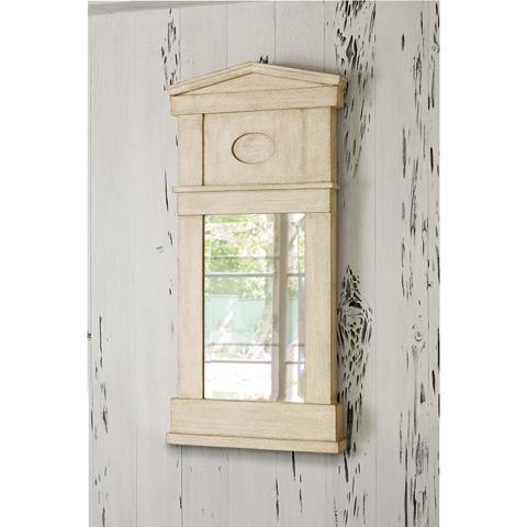 Ambella Home Collection - Pediment Mirror in Antique White - 27055-980-150