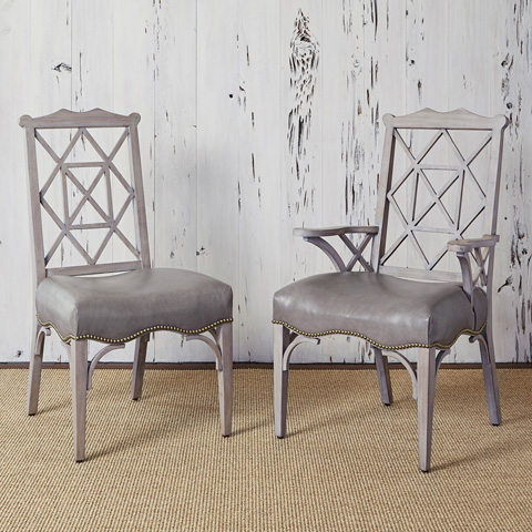 Image of 18th Century Side Chair in Grey