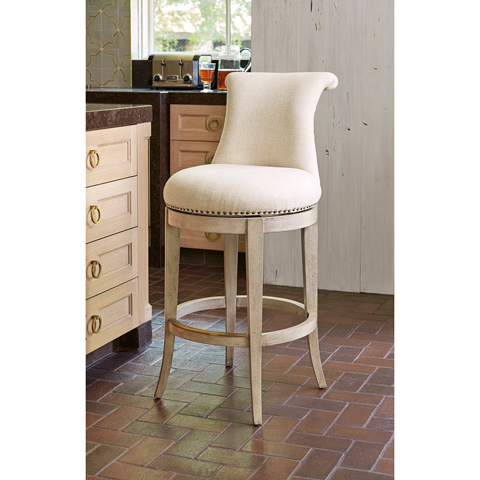Ambella Home Collection - Ionic Barstool in Grey - 61000-510-003
