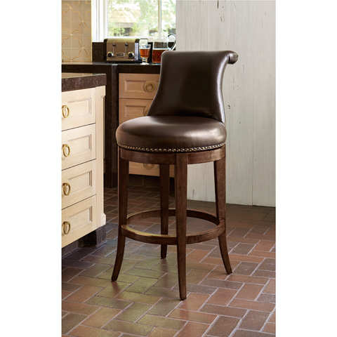 Ambella Home Collection - Ionic Counter Stool in Walnut - 61000-520-011
