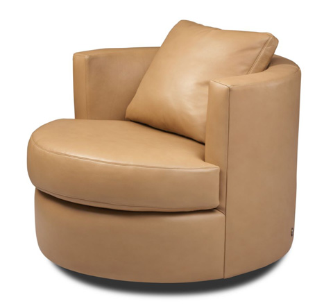 American Leather - Emma Swivel Chair - EMA-CHS-ST