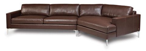 American Leather - Oliver Sectional - OVR-SO2-RA/OVR-CWG-LA