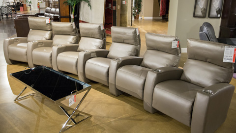Image of Leather Home Theatre Seating Set