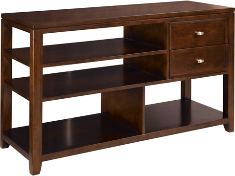 American Drew - Tribecca Sofa Table with Open Storage Shelving - 912-925
