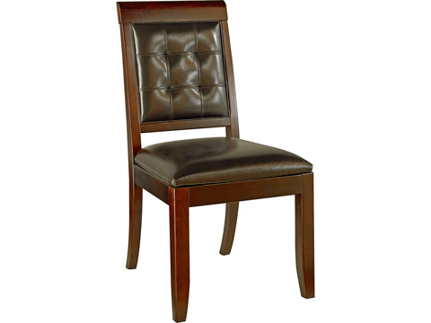 Image of Tribecca Upholstered Leather Side Chair