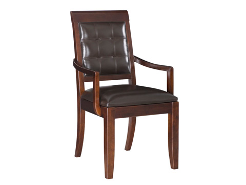 Image of Tribecca Upholstered Leather Arm Chair