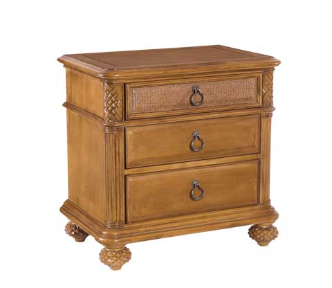 Image of Grand Isle Three Drawer Nightstand