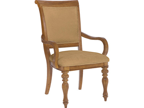 Image of Grand Isle Upholstered Arm Dining Chair