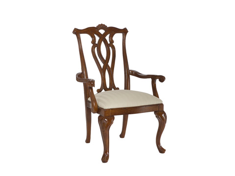 Image of Cherry Grove Pierced Back Arm Chair