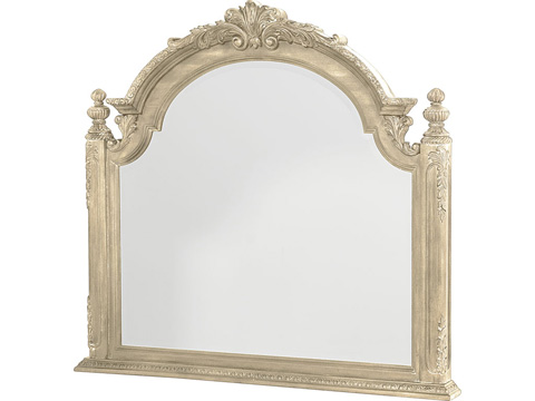 Image of White Boutique Landscape Mirror