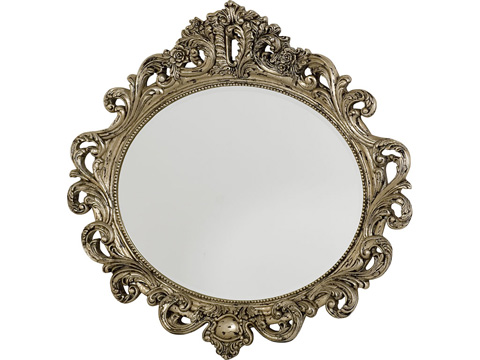 Image of Silver Veil Oval Decorative Mirror