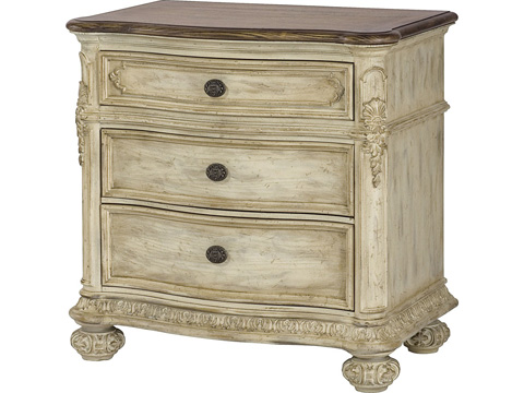 Image of White Veil Drawer Nightstand