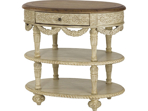 Image of Oval Tiered Accent Table