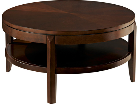 American Drew - Round Cocktail Table with Storage Shelf - 912-913